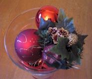 Kerstdecoratie - Kerstversiering in vaas met kerstballen