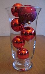 Kerstdecoratie - Vaas met kerstballen