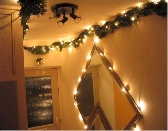 Kerstdecoratie in de gang - sfeervolle kerstdecoratie in huis