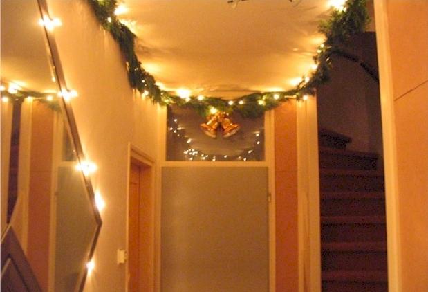 kerstguirlande met verlichting
